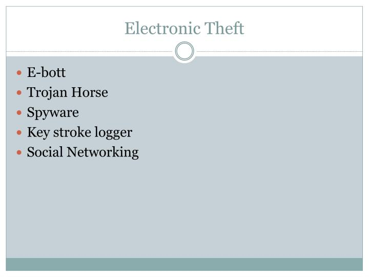 Electronic Theft