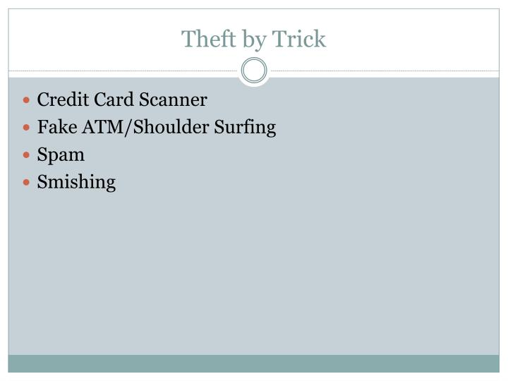 Theft by Trick