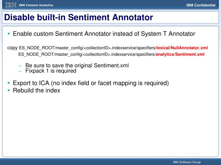 Disable built-in Sentiment Annotator