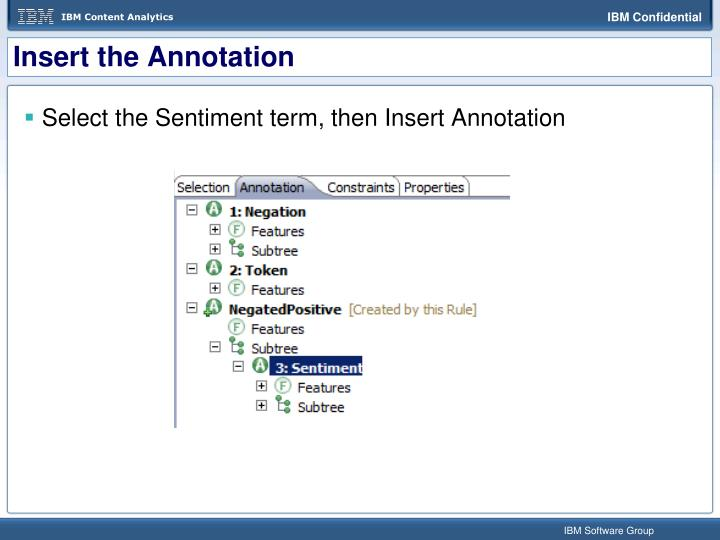 Insert the Annotation