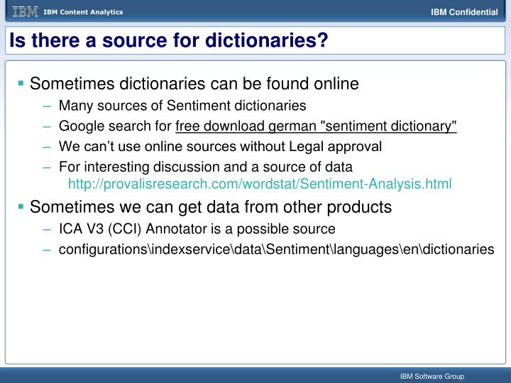 Is there a source for dictionaries?