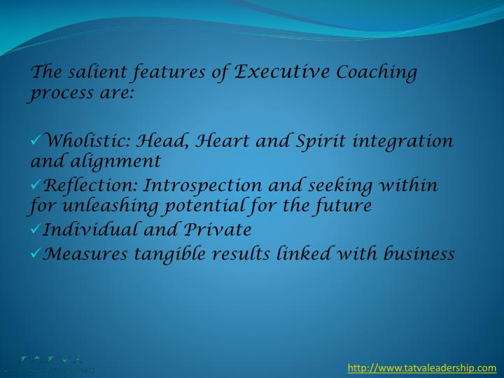 The salient features of