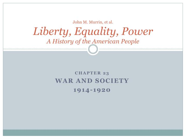 John m murrin et al liberty equality power a history of the american people