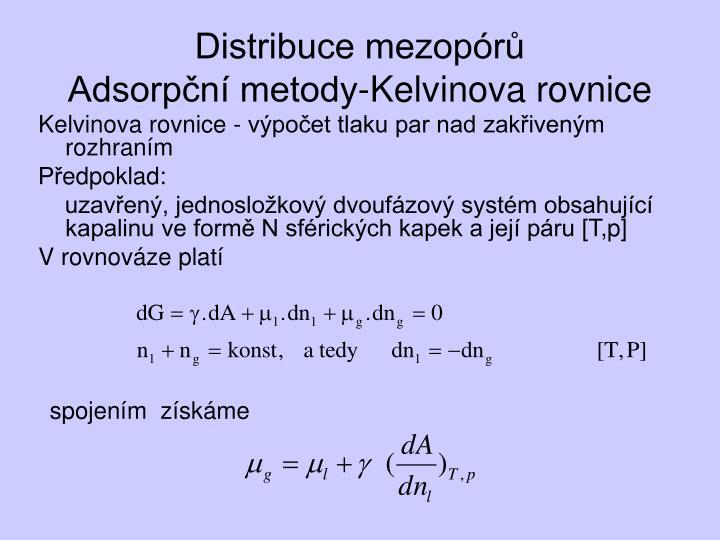 Distribuce mezopórů