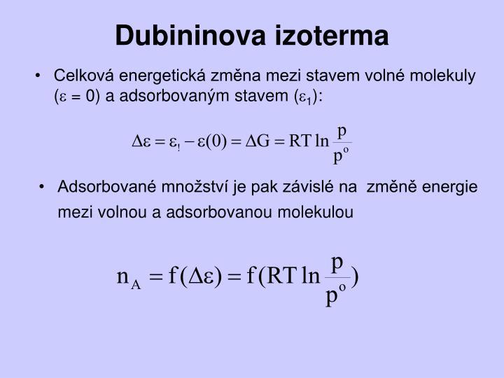 Dubininova izoterma