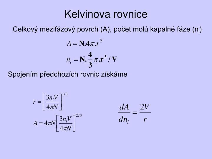 Kelvinova rovnice