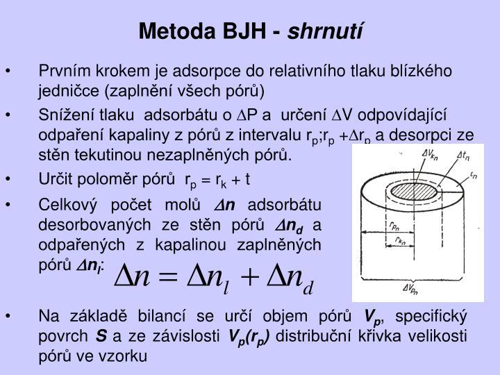 Metoda BJH -