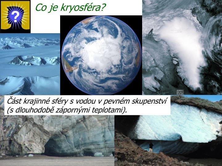 Co je kryosféra?
