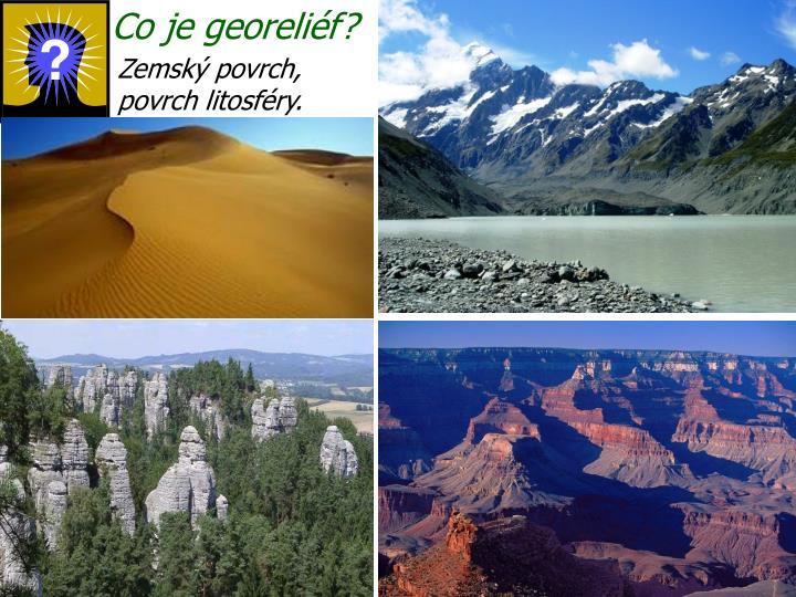 Co je georeliéf?
