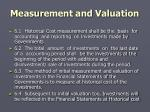 measurement and valuation