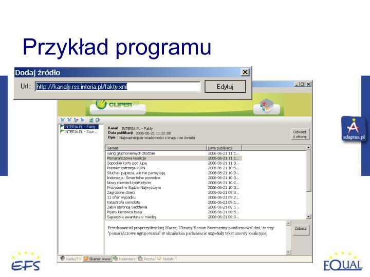 Przykład programu
