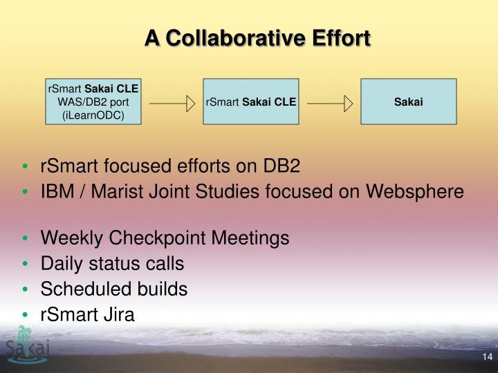 A Collaborative Effort
