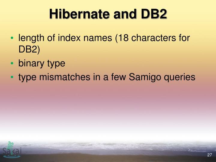 Hibernate and DB2