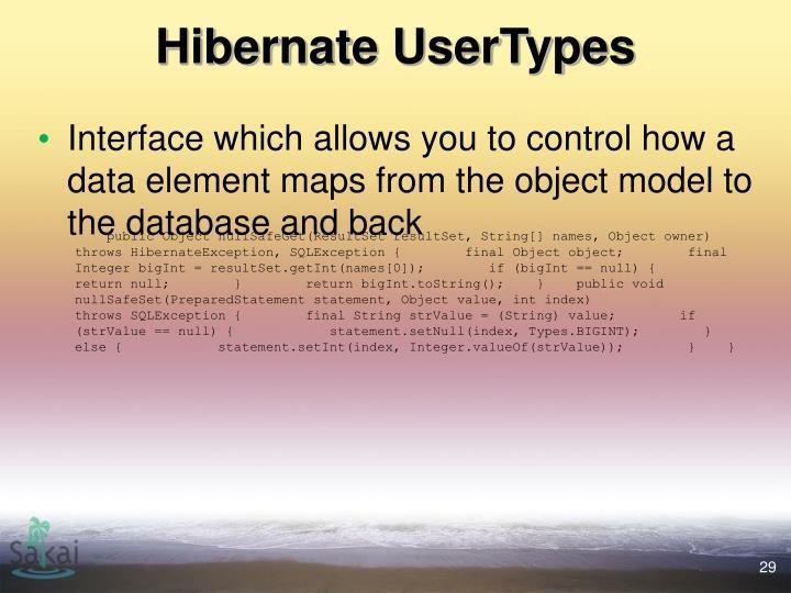 Hibernate UserTypes