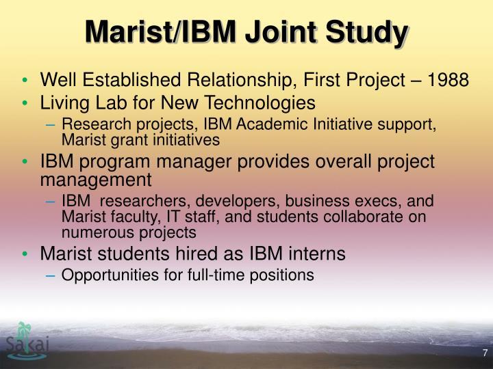 Marist/IBM Joint Study