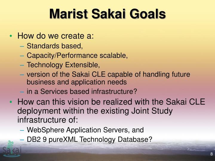 Marist Sakai Goals