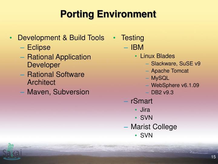 Development & Build Tools