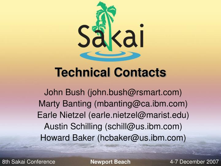 Technical Contacts