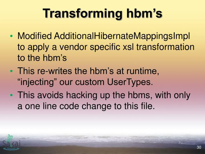 Transforming hbm's