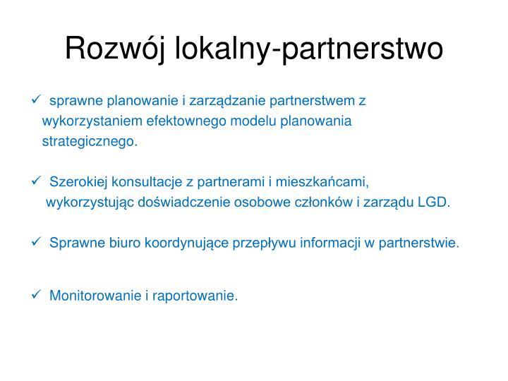 Rozwój lokalny-partnerstwo