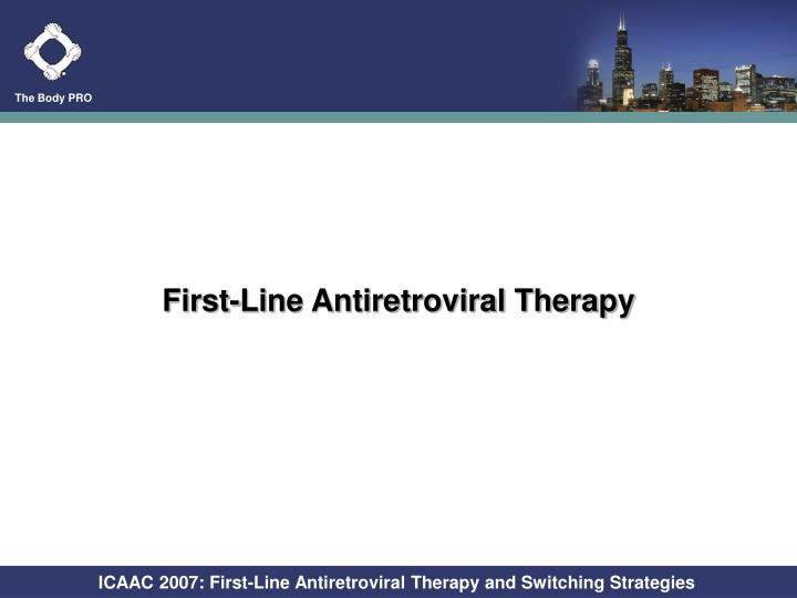 First-Line Antiretroviral Therapy