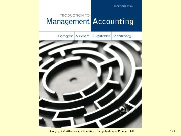 managerial accounting 4th edition chapter 14