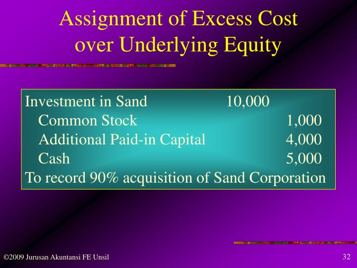 Assignment of Excess Cost