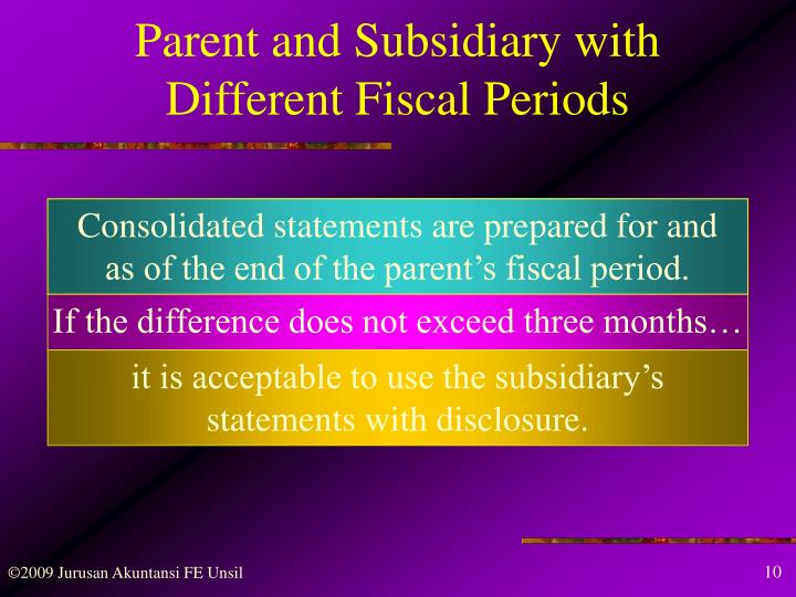 Parent and Subsidiary with