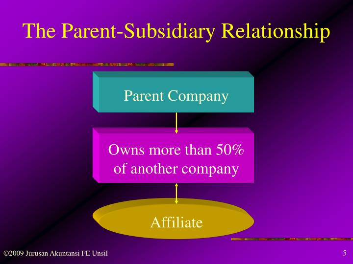 The Parent-Subsidiary Relationship