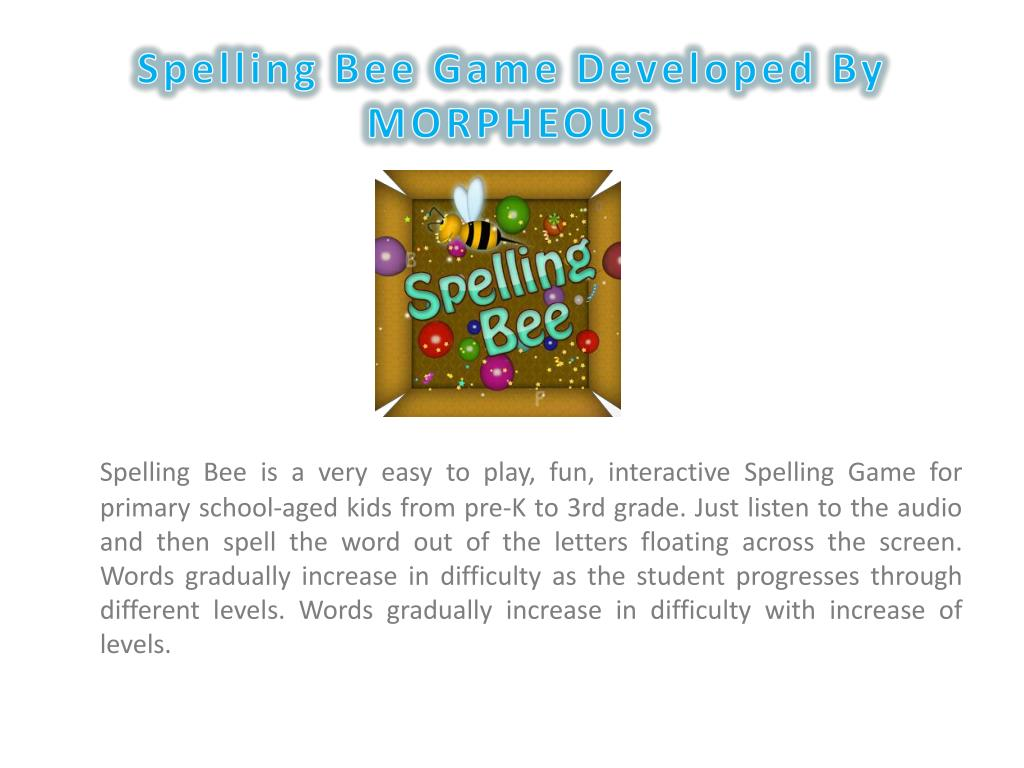 PPT - Spelling Bee Game PowerPoint Presentation - ID:5985312