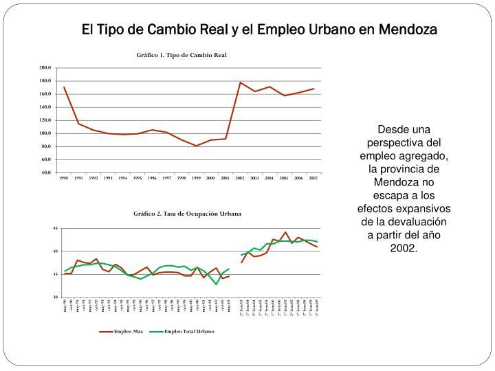 El tipo de cambio real y el empleo urbano en mendoza