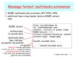 message format multimedia extensions