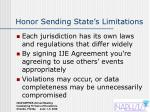 honor sending state s limitations