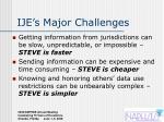 ije s major challenges
