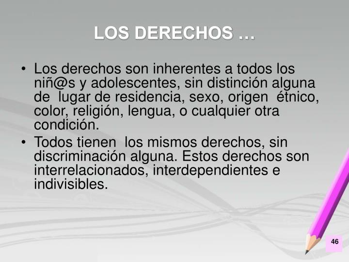 LOS DERECHOS …