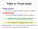 public vs private goods