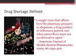 drug shortage defined