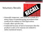 voluntary recalls