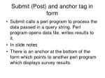 submit post and anchor tag in form