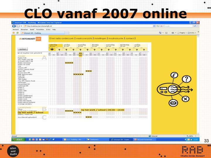 CLO vanaf 2007 online