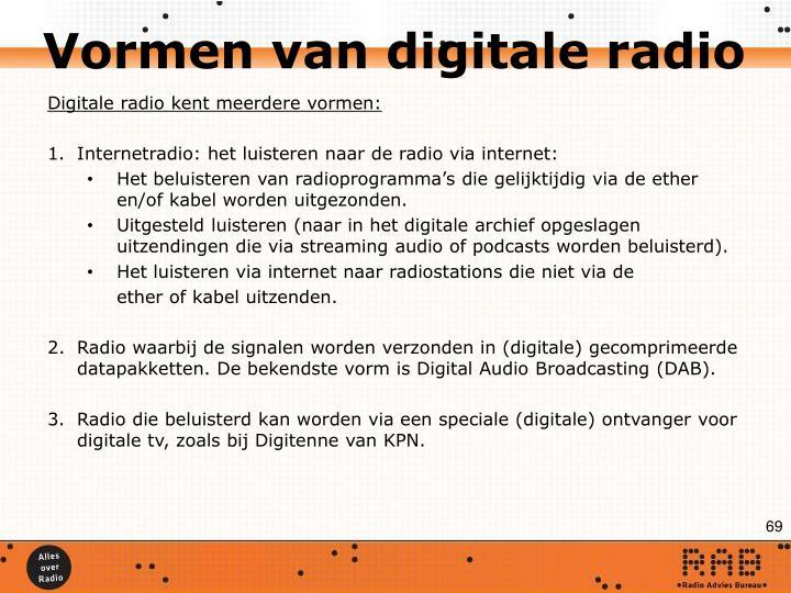 Vormen van digitale radio