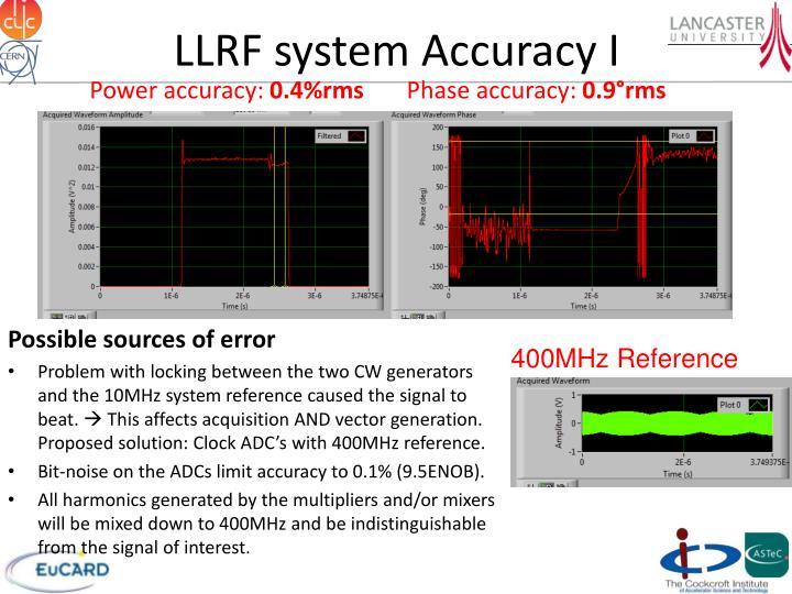 LLRF system Accuracy I