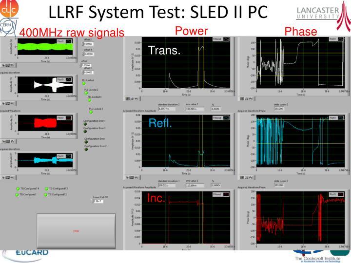LLRF System Test: SLED II PC