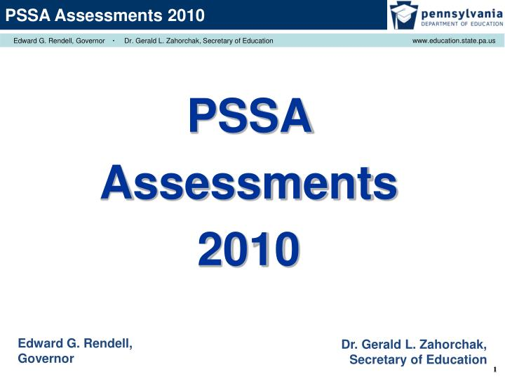 PPT PSSA Assessments 2010 PowerPoint Presentation ID 5986207