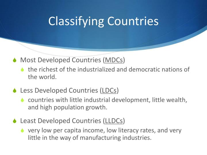 Classifying Countries