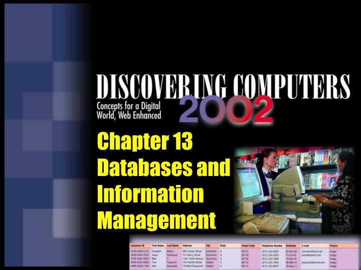 chapter 13 databases and information management n.