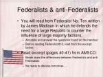 federalists anti federalists
