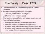 the treaty of paris 1783