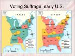 voting suffrage early u s