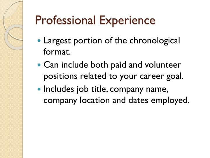 Professional Experience